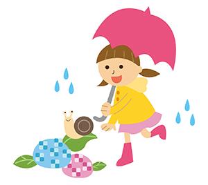 子どもと雨の日