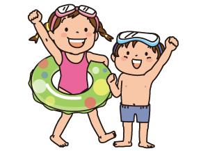 水遊びに行く子どもたち