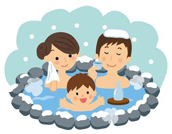家族で温泉