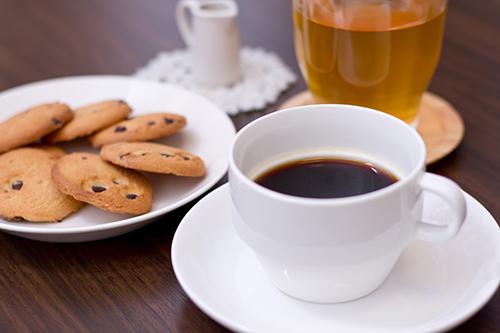 コーヒーとクッキー