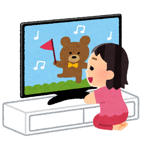 TVを見る子供
