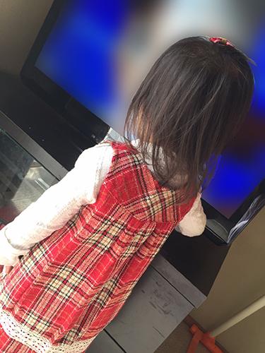 1歳半頃の髪の長さ